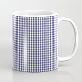 USA Flag Blue and White Gingham Checked Coffee Mug
