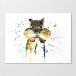 Chipmunk - Feeling Stuffed Canvas Print
