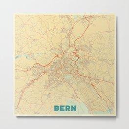 Bern Map Retro Metal Print