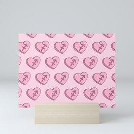 Sagittarius Candy Hearts Mini Art Print