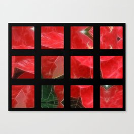 Mottled Red Poinsettia 1 Ephemeral Art Rectangles 2 Canvas Print