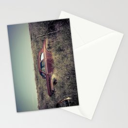 Rusting Vintage Auto in a Sea of Weeds in Bard New Mexico along Route 66 Stationery Cards
