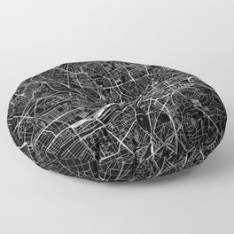 Frankfurt Black Map Floor Pillow