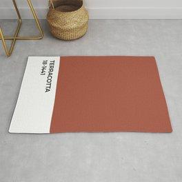 Terracotta Pantone Chip •Red •Earth Tones • Nature • Warm • Fall • Modern Design • Apartment Decor Rug