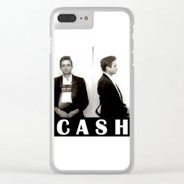 Cash Mugshot Clear iPhone Case