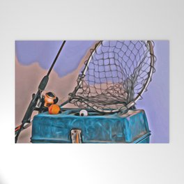 Gone Fishing Welcome Mat