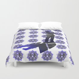 The New Director Works In The Shadows Duvet Cover