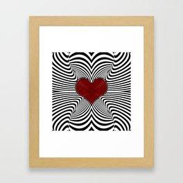 Modern Heart Waves Framed Art Print