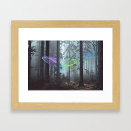 Whale Music in the Forest Framed Art Print
