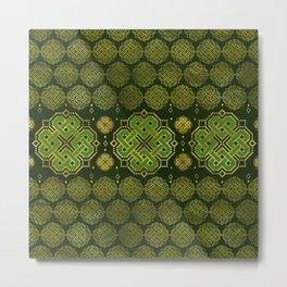 Celtic Endless Knot - Shamrock Four-leaf clover Metal Print