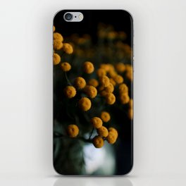 mustard yellow flowers iPhone Skin