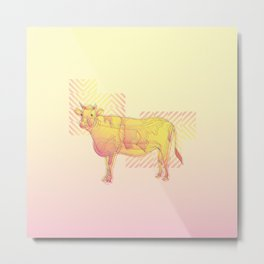 Strawberry Vanilla Milk Metal Print