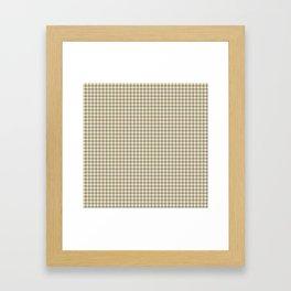 Grey Beige Houndstooth Pattern Framed Art Print