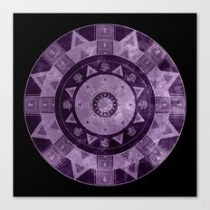 ethnic circle with watercolors Canvas Print