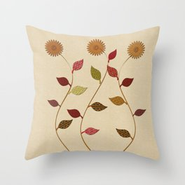 Giving Thanks Floral Collage Throw Pillow