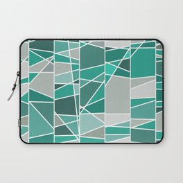 Turquoise and grey Laptop Sleeve