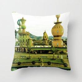 Cute amusement park. Throw Pillow