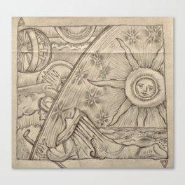 Flammarion Engraving Detail Canvas Print