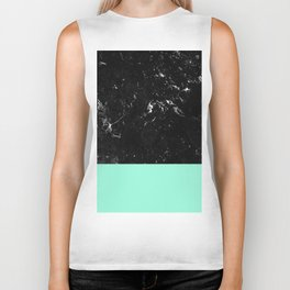 Mint Meets Black Marble #1 #decor #art #society6 Biker Tank