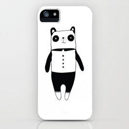 Little black and white panda iPhone Case