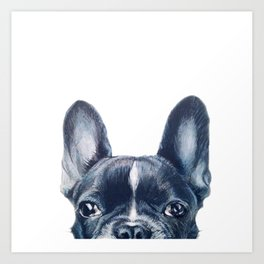 French Bull dog Dog illustration original painting print Art Print