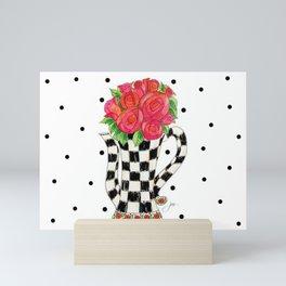Teapot Roses Mini Art Print