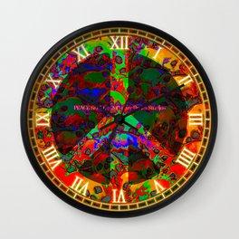 PEACE SKULLS Wall Clock