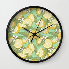 Lemon Pattern 03 Wall Clock