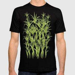 Sugar Cane Exotic Plant Pattern T-shirt