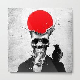 SPLASH SKULL Metal Print