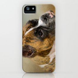 Golden Brindle Boxer iPhone Case