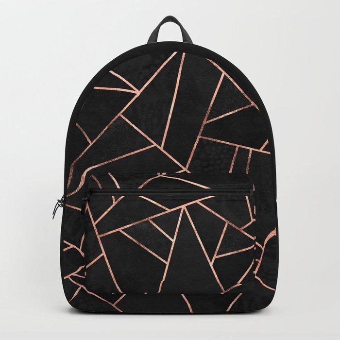 Velvet Black & Rose Gold Backpack