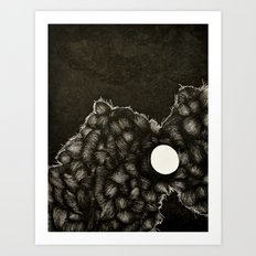 I was enraged when it said the world was ending Art Print