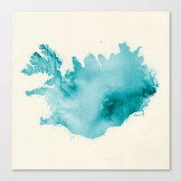 iceland Canvas Prints featuring Iceland by Kristjan Lyngmo