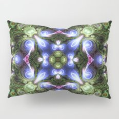 Fractal Forest Indigo Pillow Sham