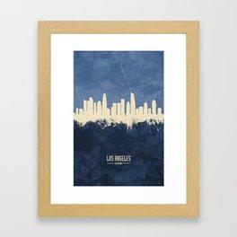 Los Angeles California Skyline Framed Art Print