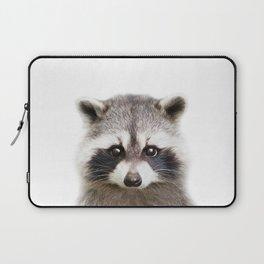Raccoon Baby Animals Art Print by Zouzounio Art Laptop Sleeve