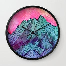 Sunset Sky Mounts Wall Clock