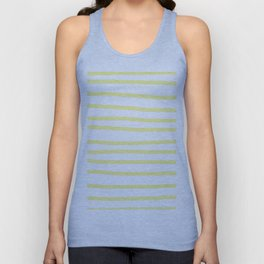 Simply Drawn Stripes in Pastel Yellow Unisex Tank Top