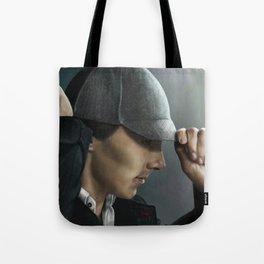Sherlock and his deerstalker Tote Bag