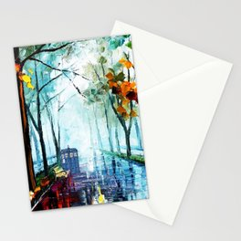 Tardis And The Street Chair Stationery Cards