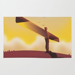 Angel of the North Travel poster. Rug