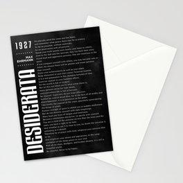 Desiderata by Max Ehrmann - Typography Print 12 Stationery Cards
