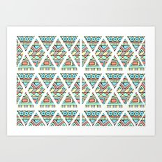 Aztec shapes Art Print