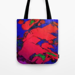 Red erosion Tote Bag