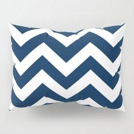 Oxford blue - blue color - Zigzag Chevron Pattern Pillow Sham