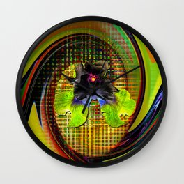 Abstract Perfection 7 Lilie Wall Clock