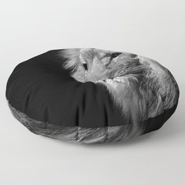 Lion Black and white Floor Pillow