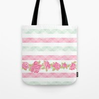 shabby chic Tote Bags featuring Shabby Chic by camilcd