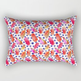 Bright Australian native floral print - grevillea and beehive ginger Rectangular Pillow